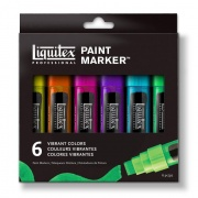 LIQUITEX Paint Marker Wide Vibrant Set 6 szt 8-15mm