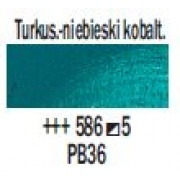 TALENS REMBRANDT 40ML 586 - COBALT TURQUOISE BLUE - farba olejna
