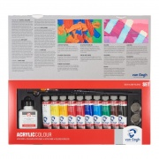 TALENS Van Gogh Acrylic Colour  Set 10 x 40 ml + akcesoria
